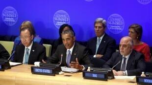 奧巴馬在美國倡導的聯合國反恐峰會上講話