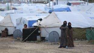 Des réfugiés dans un camps du Kurdistan, le 30 mars 2014.