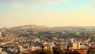 Vue panoramique de la ville d'Ankara, le 26 juillet 2009 en Turquie.