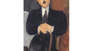 Seated Man with a cane by Amedeo Modigliani.