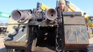 Soldado do governo de União (GNA) perto do front em Misrata. Em 3 de fevereiro de 2020.