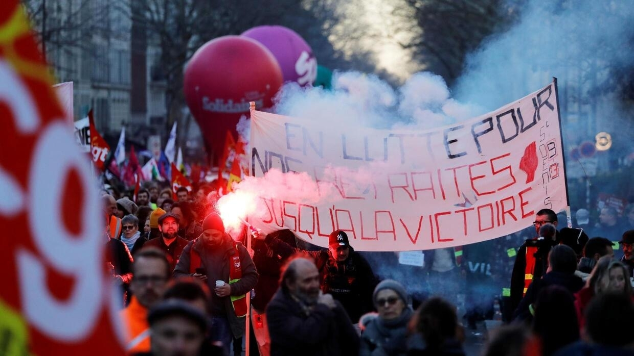 French opposition parties vow to torpedo Macron's pension reforms in parliament