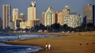 La plage de Durban, en Afrique du Sud.