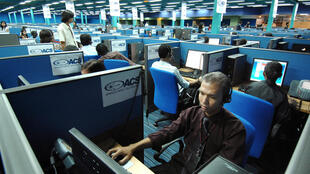 A call centre in Manila.
