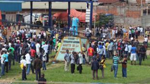 Un rassemblement à Beni en mai 2015. Depuis 2014, la région est le théâtre de tueries qui ont provoqué la mort de plus de 500 personnes.