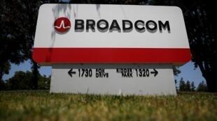 Siège social de Broadcom le 7 juin 2018 à San Jose, en Californie.