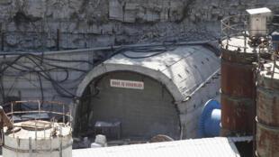 Mine entrance, Soma, Manisa province, Turkey, 19 May 2014.
