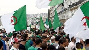 Protesters out on the streets of the capital Algiers on May 24, 2019