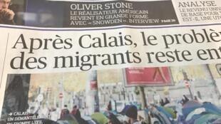Primeiras páginas dos diários franceses 01/11/2016