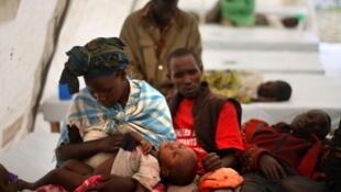 Crianças vítimas de cólera