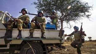 Casques bleu en mission au Soudan du sud.