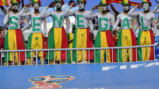 Des supporters sénégalais quelques instants avant le coup d'envoi contre la Colombie.