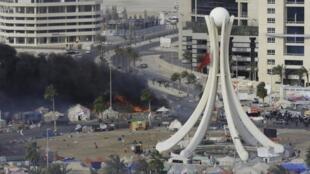 La plaza de la Perla, en Manama, el 16 de marzo.