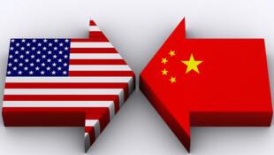 图为中美贸易报导图片