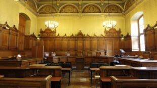 Зал заседаний парижского Дворца Правосудия, в котором проходят слушания по делу Жака Ширака