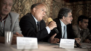Dalil Boubakeur, rector of the French capital's main mosque, at a press conference