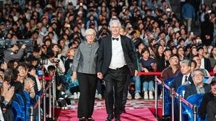 French Asian Film Festival, FICA, directors' walk the red carpet in Busan, South Korea to receive gratitude award from BIFF, 4th October 2018