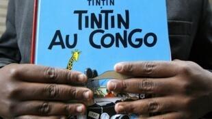 La couverture de la bande dessinée «Tintin au Congo».