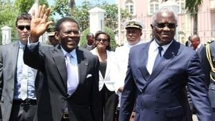 Teodoro Obiang Nguema e Manuel Pinto da Costa