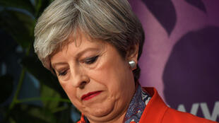 British Prime Minister Theresa May waits for results in her Maidenhead constituency
