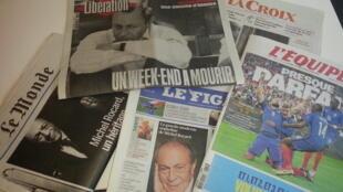 Primeiras páginas dos jornais franceses de 04 de julho de 2016