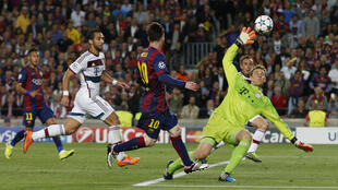 O FC Barcelona contra o  Bayern de Munique