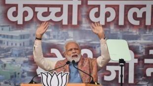 Thủ tướng Ấn Độ Narendra Modi trong cuộc mít tinh tại New Delhi, ngày 22/12/2019.