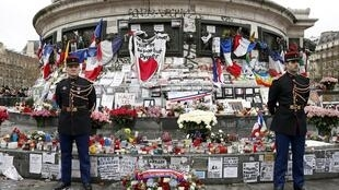 France commemorated the victims of last year's shooting at the French satirical newspaper Charlie Hebdo in Paris.