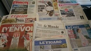 Diários franceses 28/07/2015