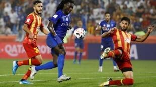 Bafétimbi Gomis a inscrit le but de la victoire d'Al-Hilal contre l'Espérance de Tunis, le 14 décembre 2019.