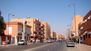 Le centre-ville de Laâyoune, la capitale de la République arabe du Sahara occidental.