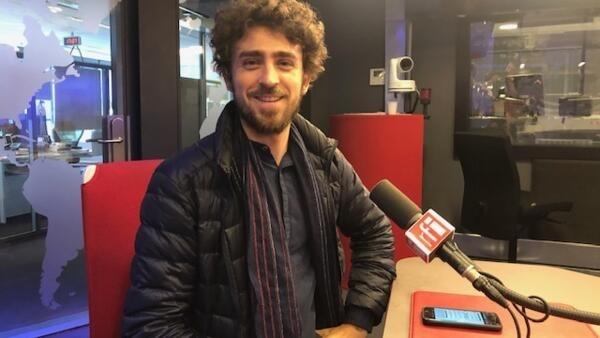 O assessor da direção da Ancine, Daniel Tonacci, nos estúdios da Rádio França Internacional.