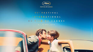 The official poster for the 71st Cannes Film Festival 2018 based on a Georges Pierre still from Jean-Luc Godard's 1965 'Pierrot le Fou'