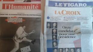 Jornais franceses desta segunda-feira, dia 20 de Março de 2017.