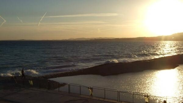 The seafront at Nice last month