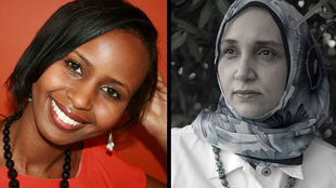 "Nadifa Mohamed (l), the author of ""The Orchard of Lost Souls"" and Leila Aboulela (r), the author of ""The Kindness of Enemies"""