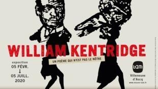 William Kentridge, «Un poème qui n'est pas le nôtre». Exposition en cours jusqu'au 5 juillet 2020 au Musée d'art moderne et d'art brut à Villeneuve-d'Ascq.