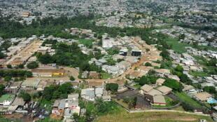 Une vue aérienne de Libreville au Gabon (image d'illustration).