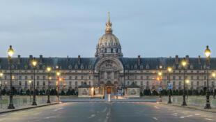 Les Invalides, à Paris, où se tiendra l'hommage aux victimes des attentats du 13 novembre.