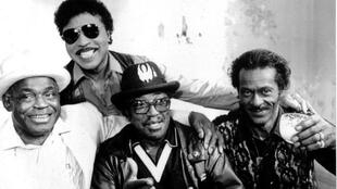 Da esquerda para a direita: Willie Dixon, Little Richard, Bo Diddley e Chuck Berry.