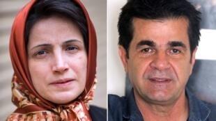 La abogada Nasrin Sotudeh y el director de cine Jafar Panahi.