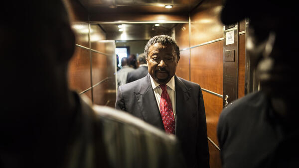 Gabon's Opposition leader Jean Ping at his party's headquarters in Libreville, August 28 2016.