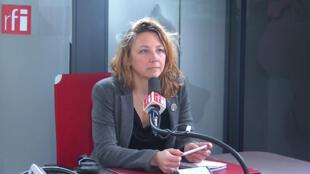 Sandra Regol, secrétaire nationale adjointe d'EELV dans les studios de RFI, le 24 janvier 2020.