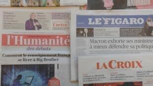 Jornais franceses do dia 10.11.2017