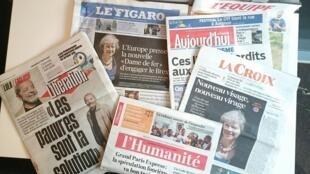 Primeiras páginas dos jornais franceses de 13 de julho de 2016