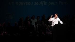 Benjamin Griveaux en meeting, au théâtre Bobino, le 27 janvier 2020.