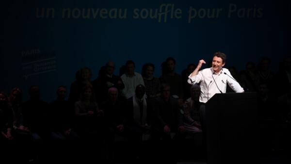 Meeting électoral de Benjamin Griveaux, au théâtre Bobino, le 27 janvier 2020.