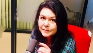 L'écrivaine française Chloé Delaume en studio à RFI (mars 2019).