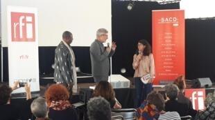 Hassane Kassi Kouyate, Pascal Paradou et Valérie Cachard.