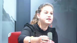 Mathilde Panot, députée de la France insoumise du Val-de-Marne était dans les locaux de RFI le 21 mars 2019 (image d'illustration).